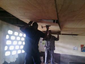 travaux de pose de plafond